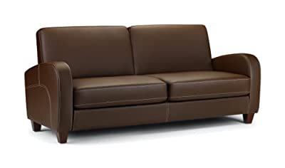 Julian Bowen Vivo Faux Leather 2 Seater Sofa, Brown