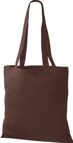 ShirtInStyle Premium Stoffbeutel Baumwolltasche Beutel Shopper Umhängetasche viele Farbe chocolate