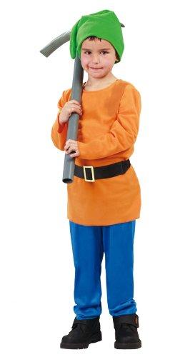 Guirca-81863 biancaneve costume gnomo bambino 5/ a nni bimbo, blu,arancio e verde, taglia 5/6 anni, 81863