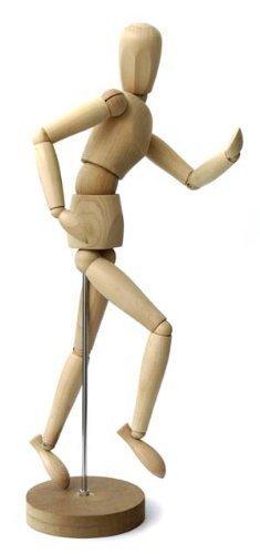 Gliederpuppe - Höhe 20cm - Zeichenpuppe Malhilfe Modellpuppe Gelenkpuppe - alle Größen