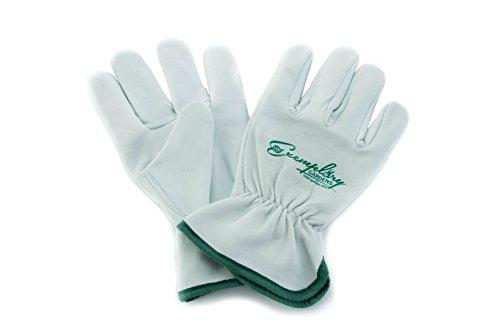 Ziegenleder-treiber Handschuhe (Heavy Duty Ziegenleder Arbeitshandschuhe für Damen und Herren. Allgemeine Zwecke Utility, Treiber, Rigger, Sicherheit Handschuhe)