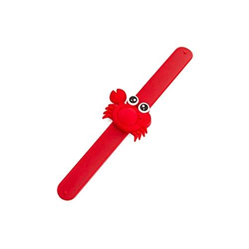 Imagen de collectsound  pulsera repelente de mosquitos para niños y bebés, diseño de dibujos animados, rojo