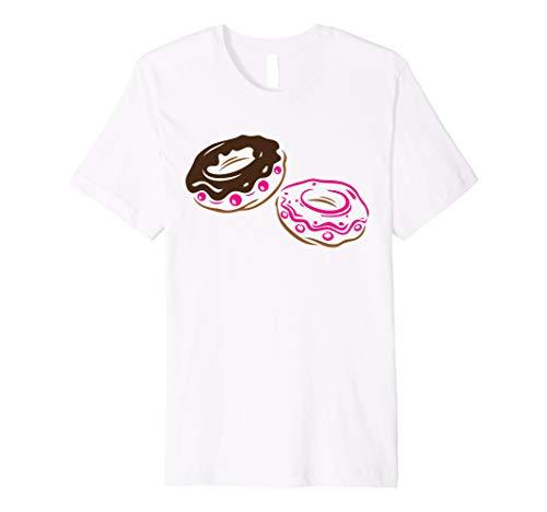 594abfb3 Donuts Schokolade Kirschen I Love Donut T-Shirt Geschenkidee