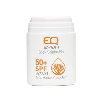 EQ   Protector Solar Facial en Stick SPF50+ – Filtros Minerales – Cara y Zonas Sensibles – Protección UVA UVB muy alta – Resistente al Agua – Blanco – 10g