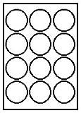300 Etiketten 25 Blatt DIN rund Durchmesser 60 mm