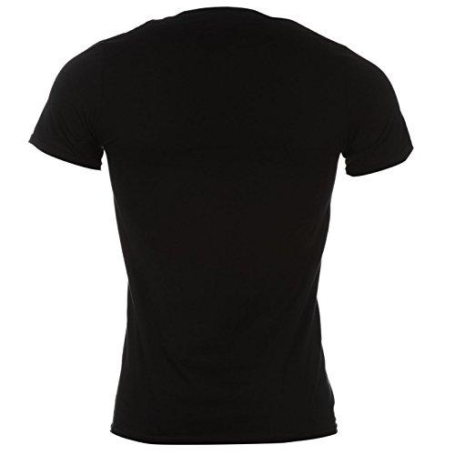 Official Herren Def Leppard T Shirt Baumwolle Freizeit Kurzarm Rundhals Schwarz Hysterie