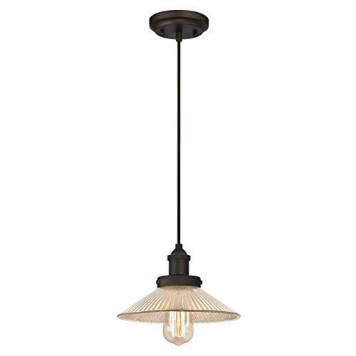 Westinghouse One-Light Indoor Pendant Lámpara de Techo, Bronce aceitado, 147 cm