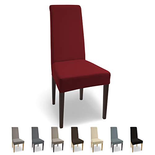SCHEFFLER-Home Natalie 2 Fundas de sillas, Estirable Cubiertas, Algodón extraíble Funda con...