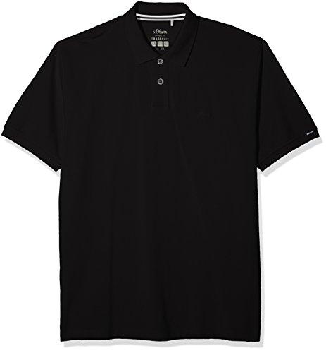 s.Oliver Big Size Herren Poloshirt 15.803.35.4993, Schwarz (Black 9999), XXX-Large