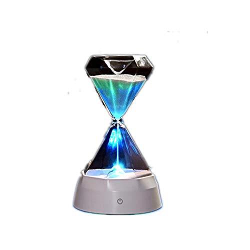 Kleine Tischlampe Retro Industrie Deckenlampe Kronleuchter Buch Licht faltbarMusikversion Sanduhr mit Schlaf-Licht eingebaute Musik Timing Diamant Sanduhr leuchtet bunt