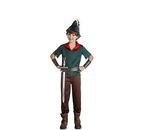 Disfrazzes Robin Hood Dunkelgrünes Kostüm für Einen Jungen