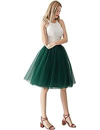 eaf2ed8f05fa MisShow Damen hübsche 4 Lage Tüllrock Petticoat Rock Ballettrock  60-106cm,in 18 verschiedne
