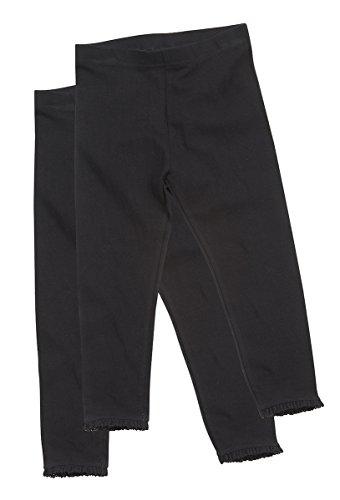 Minikidz Girls 2 Pack Cotton Rich Leggings