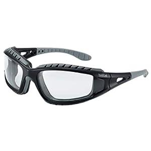 Bolle Tracker 2/II Occhiali di sicurezza, Colore Trasparente, con custodia e cordicella