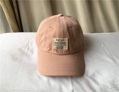 Casual Patch Softtop Baseballmütze weiblich einfach und bequem Wilde Paar Mütze männlich rosa einstellbar