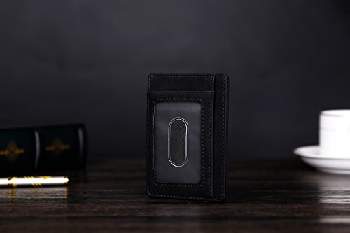 31VlzxZ7MhL - Kronya | Elegant Leather Wallet with RFID Protection | Wallet Case Money Clip Holder Credit Card Holder