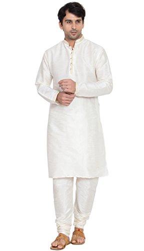 Langärmliges Hemd Mens Kurta Pyjama Set handgefertigtes traditionelles -