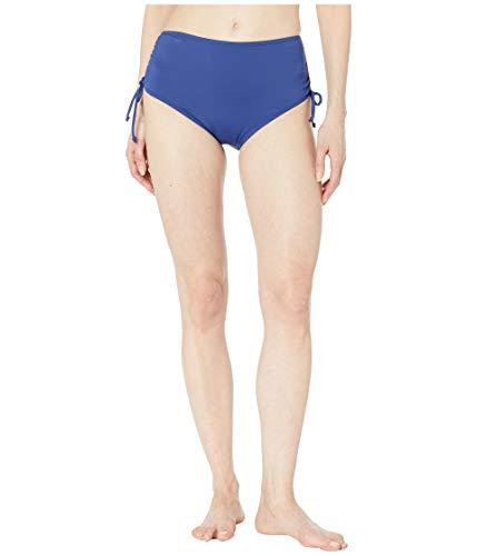 Solid Hipster Bottom (24th & Ocean Damen High Waist Side Tie Hipster Bikini Swimsuit Bottom Bikinihose, Navy//Solid, Small)