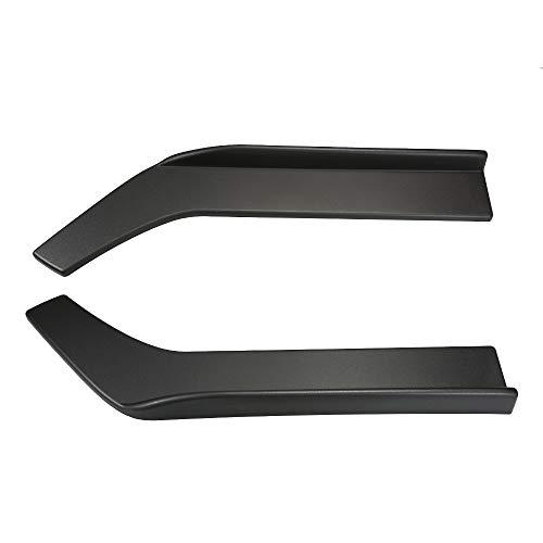 Lip Platte (Tickas 2PCsFront Bumper Lip Flat Splitter Platte unter Panel Diffusor Chin Spoiler)