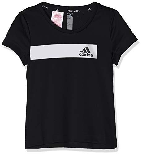 Tr-t-shirt Tee (adidas Jungen YB TR COOL Tee T-Shirt, Black, 5-6Y)