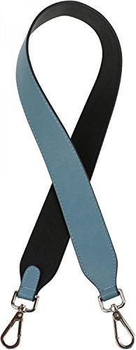 styleBREAKER correas bandoleras para bolsos en monocolores, correa de repuesto con mosquetón para bolsos de bandolera, unisex 02013003, color:Negro-azul vaquero