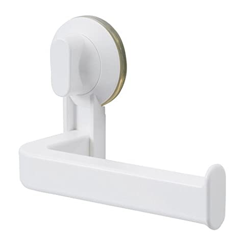 STUGVIK Toilet Roll Holder with Suction Cup, White, Width: 17 cm Max. load: 3 kg, With suction cup that grip smooth surfaces. by STUGVIK