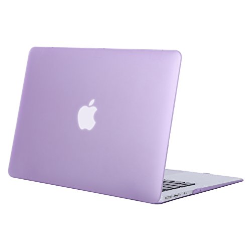 MOSISO MacBook Air 13 Hülle - Ultra Slim Hochwertige Plastik Hartschale Tasche Schutzhülle Snap Case für MacBook Air 13 Zoll (A1466 / A1369), Helles Lila (Lila Notebooktasche Macbook Pro 13)