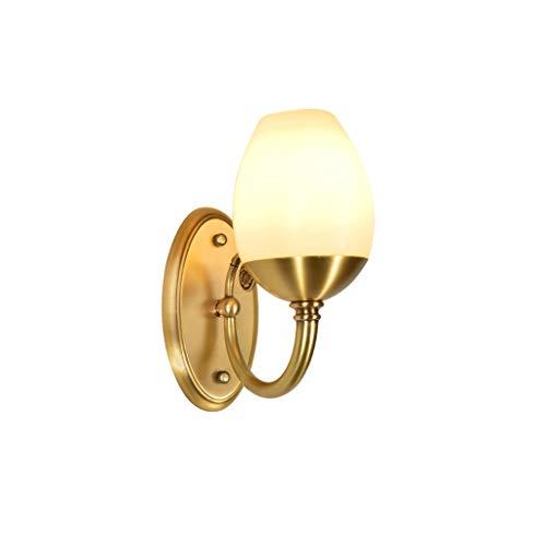 Moderne Et Simple Cuivre Country Garden Applique Lampe De Chevet Applique Murale Salon Miroir Avant Lampe E14 (taille : Single head)