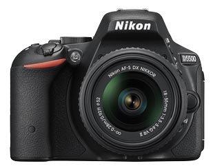 Nikon Digital SLR D5500 Combo Kit With AF-P 18-55mm VR and AF-S DX 55-200mm VR II Lens Kit (Black), CARD, CAMERA BAG