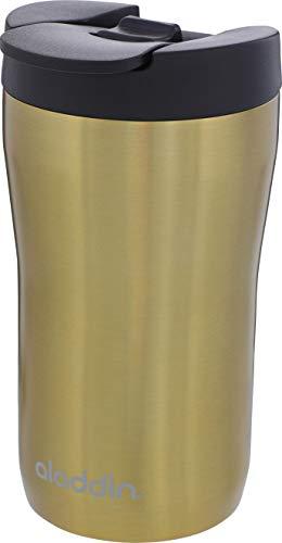 Aladdin Latte Leak-LockTM Edelstahl-Thermobecher, 0.25 Liter, Gold, 100% Auslaufsicher und verriegelbar, passt unter Vollautomat und Kapselmaschine