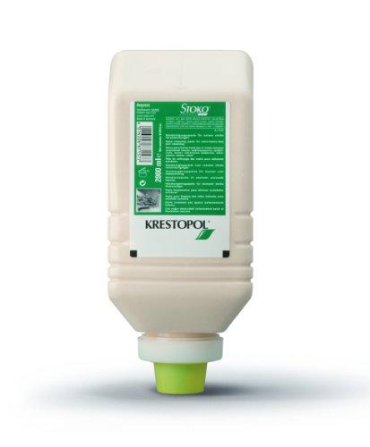 KRESTOPOL 6 x 2000 ml-Softflasche 33577Lösemittelfreie Handreiniger mit Reibemittel für Grobverschmutzungen