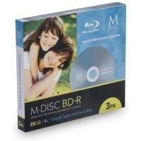 Millenniata MDBD003 Rohling Transparent/Weiß (Foto-speicher Archivierung)