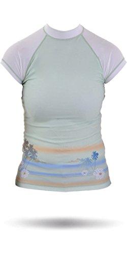 Rip Curl Core Bali Rash Vest in Green/White W7305W Sizes- - Ladies 8 (Womens Grün Bali)
