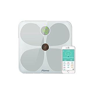 PLYY Digitale Personenwaage/elektronische Waage High-End-minimalistischen Design Geschenke Multi-Funktions-12-Daten-Erkennung Bluetooth APP elektronische Geschenk (weiß)
