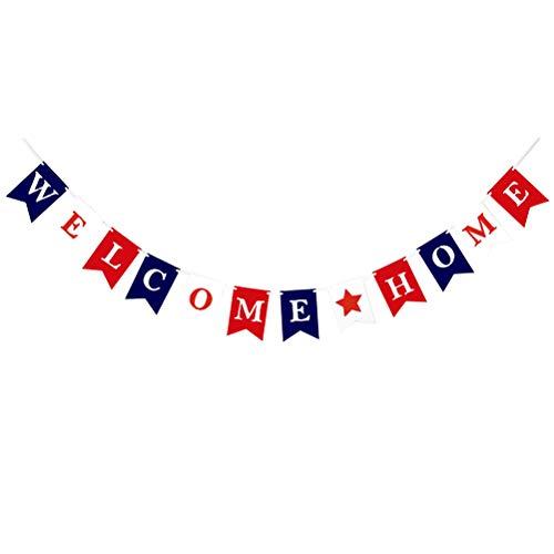 u Hause Girlande Girlande Schwalbenschwanz Banner für Geburtstag Baby Shower Hochzeit Versammlung ()