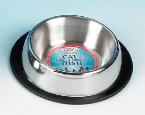 Classic Stainless Steel Non Tip Cat Bowl 16Cm