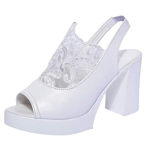 Masoness Mode Frauen Sexy Fisch Mund Blume Spitze Patchwork Reine Farbe Knöchelriemen High Heel Sandalen -