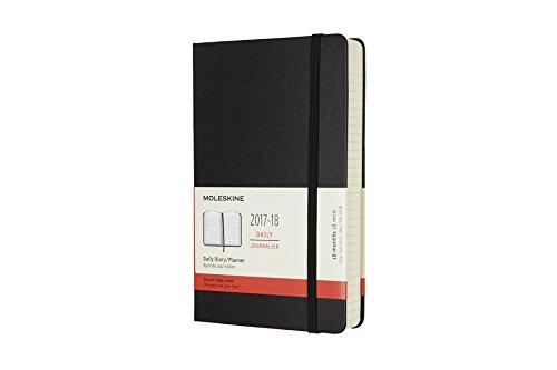 Moleskine Tageskalender, Taschenkalender, 18 Monate, 2017/2018, Large, A5, Hard Cover, Schwarz (Klassischer Kalender)