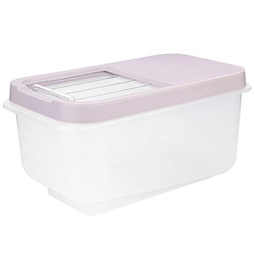 XZANTE Kunststoff Reis Eimer 10Kg Feuchtigkeitsfeste Küche Transparent Reis Kabinett Aufbewahrungs Box Haushalt Zylinder Lebensmittel Box