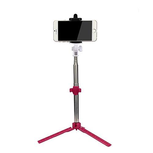 Fulltime E-Gadget Selfie Stange, Mini Wireless Bluetooth vertikale Stativ Stretch Multi-Funktion seit der Welle (Rot)
