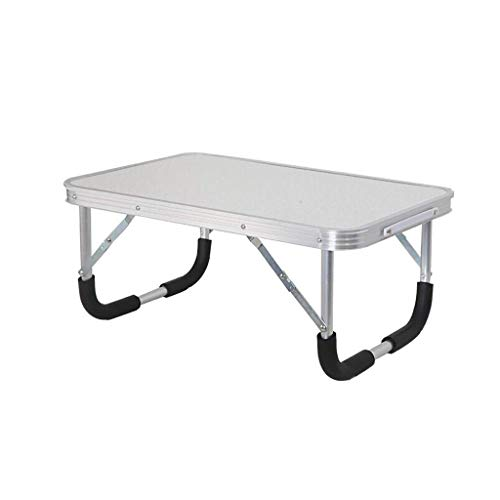 BJYG Mini-Schreibtisch, medizinischer Tisch, tragbarer Faltbarer Lazy-Tisch, Laptop-Ständer, Laptop-Bettablagetisch, 2 Farben, 60 * 40 * 26 cm (Farbe: Weiß)