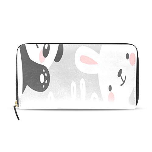 Chinese Panda Rabbit Lange Passport Clutch Geldbörsen Reißverschluss Brieftasche Fall Handtasche Geld Organizer Tasche Kreditkarteninhaber Für Dame Frauen Mädchen Männer Reisegeschenk -