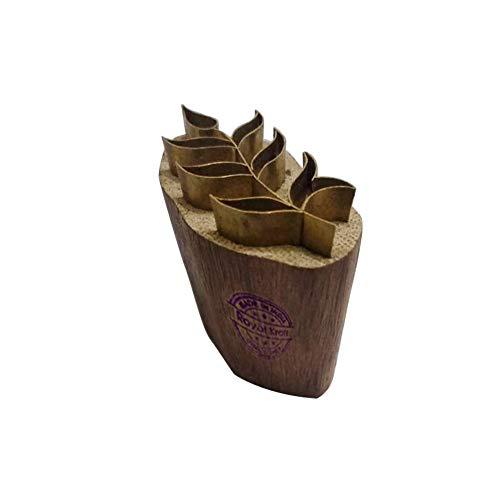 Royal Kraft Töpferei Holz Stempel Messing Blatt Muster Drucken Lehmblöcke
