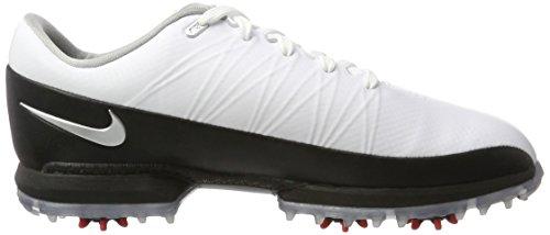 Nike 853739-101, Scarpe De Golf Uomo Multicolore (blanc / Argent Métallique / Noir / Université Rouge)