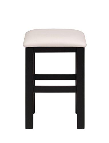 Frisierhocker Volana 3 schwarz weiss 35x48x35 cm Hocker Sitzhocker