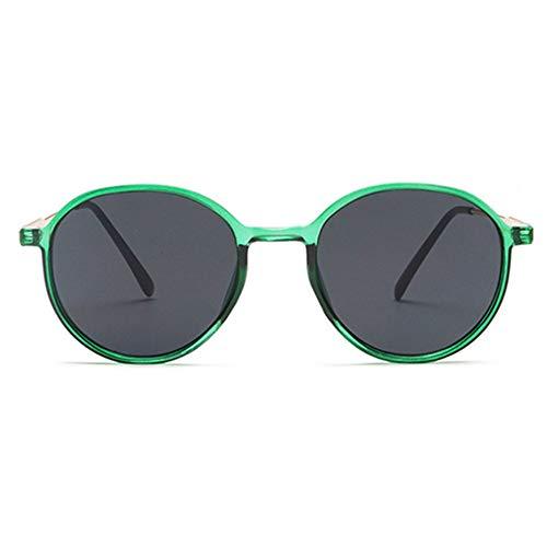 @W.H.Y Big Box Sonnenbrille Retro Semi-Metal Round Frame Transparente Ocean Piece Sonnenbrille Grenzüberschreitende Sonnenbrille,A