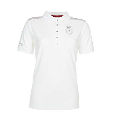 Xfore Golf Damen Halbarm Funktions Poloshirt Margate, in Weiss, Gr M - Leichtes Pique Polo Golf Shirt