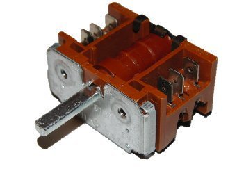Switch: Cooker: 42.02900.000 Bosch, Creda, Ego, Leisure, Neff, Rangemaster, Siemens, Viscount 2 Pole, 16A 250V or 10A 400V Switch position 1 & off duroplast with tab terminals EGO 42.02900.000 by Homespares