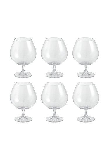Galileo Casa Gastro Set 6 Bicchieri Brandy, Cristallo, Trasparente, 7x7x16 cm