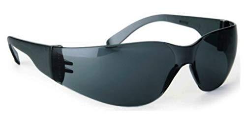 MIRAGE ES GRAU SCHWARZ Sonnenbrille Herren Damen UV400 100% UV A/B & 85% Blaulicht Umlaufende Stoßfest Sportbrille für Autofahren Motorrad Laufen Radfahren Tennis - Schnur, Beutel & Sport Band